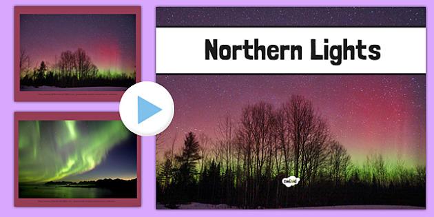 Northern Lights Photo PowerPoint - northern lights, photo, powerpoint, aurora borealis