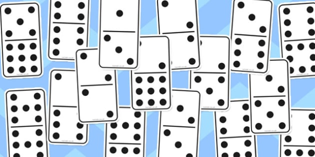Domino set to 9 - domino, set, 9, dominoes, game, activity, sets