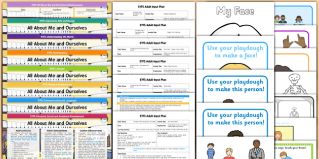 EYFS All About Me And Ourselves Lesson Plan Enhancement Ideas and Resources Pack - ourselves