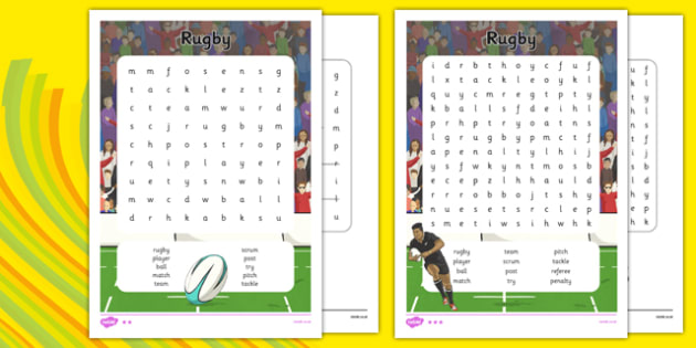 Rio 2016 Olympics Rugby Word Search - rio olympics, 2016 olympics, rio 2016, rugby, word search
