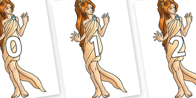 Numbers 0-31 on Aphrodite - 0-31, foundation stage numeracy, Number recognition, Number flashcards, counting, number frieze, Display numbers, number posters
