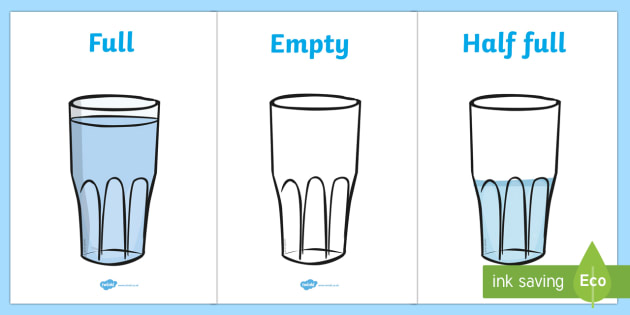 Capacity Display Posters (Cups) - Capacity display posters, capacity, volume, litre, full, empy, half full, measure, jug, cup, water, display, poster, freize, numeracy, measurement, capacity, poster