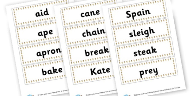 ae Extended Code Word Cards - Words & Vocab Primary Resources, literacy, keywords, cvc, phonemes