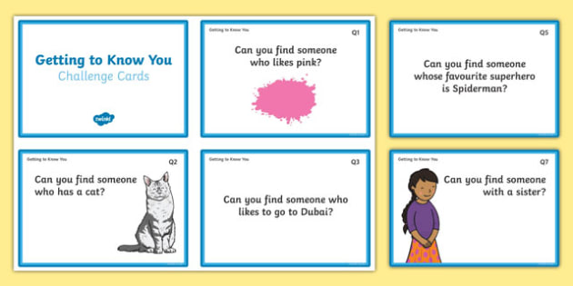 Getting to Know You UAE  Quiz Cards