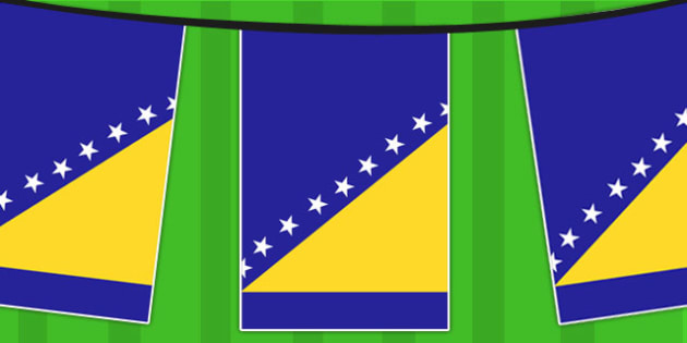 Bosnia and Herzegovina A4 Flag Bunting - countries, geography