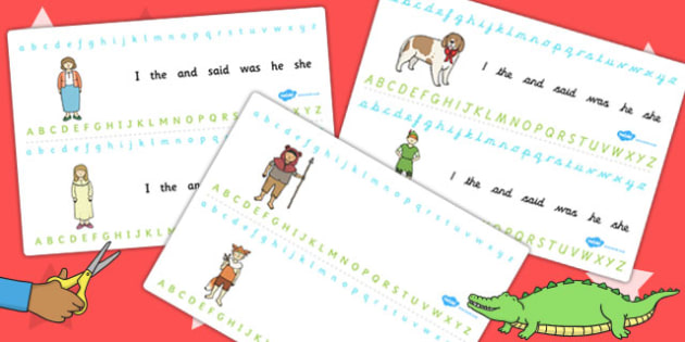 Peter Pan Alphabet Strips - letters, lettering, alphabet, theme