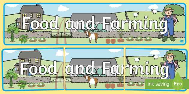 Food and Farming Topic Display Banner - food and farming, food and farming banner, food banner, farming banner, display banner, food, farming