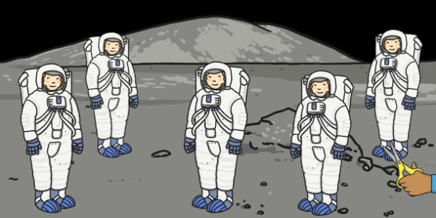 Five Little Astronauts Counting Song Cut Outs - motor, skills