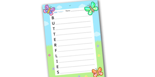 Butterflies Acrostic Poem - acrostic poems, acrostic poem, butterflies, butterfly, butterfly acrostic poem, butterflies acrostic poem template, butterflies acrostic poem writing frame, acrostic, poem, poetry, literacy, writing activity, activity