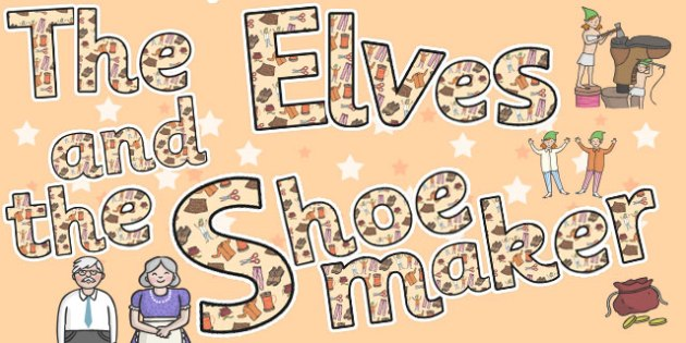 The Elves and the Shoemaker Display Lettering - display, letters