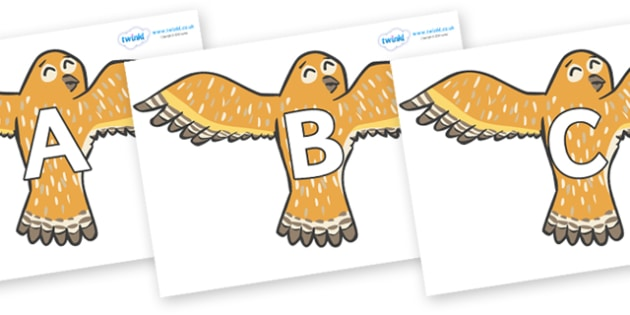 A-Z Alphabet on Owls - A-Z, A4, display, Alphabet frieze, Display letters, Letter posters, A-Z letters, Alphabet flashcards
