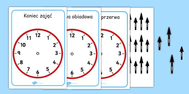 Zegar na ściane po polsku - czas, matematyka, godzina