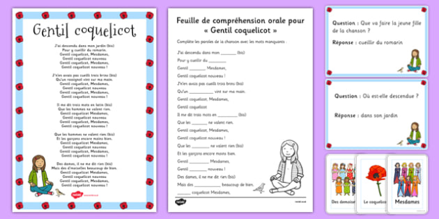 Comptine Gentil Coquelicot Pack French - french, language, Comptine, Gentil Coquelicot, Pack