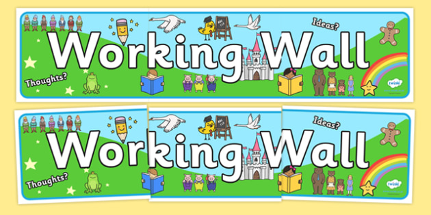 Literacy Working Wall Display Banner - working wall banner, working wall display banner, working wall display, working wall, the working wall
