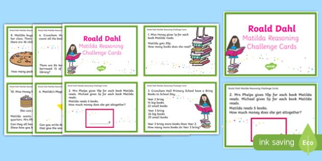 Matilda Reasoning Year 2 Challenge Cards