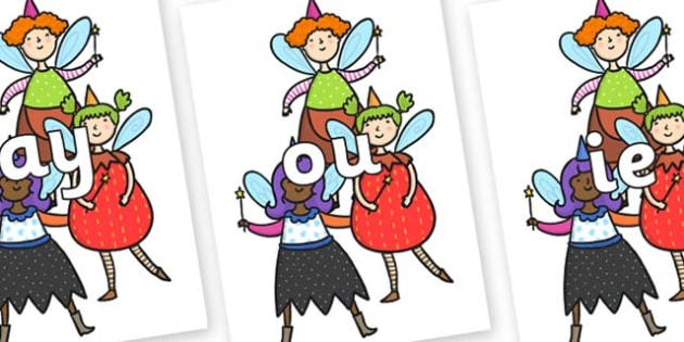 Phase 5 Phonemes on Good Fairies - Phonemes, phoneme, Phase 5, Phase five, Foundation, Literacy, Letters and Sounds, DfES, display
