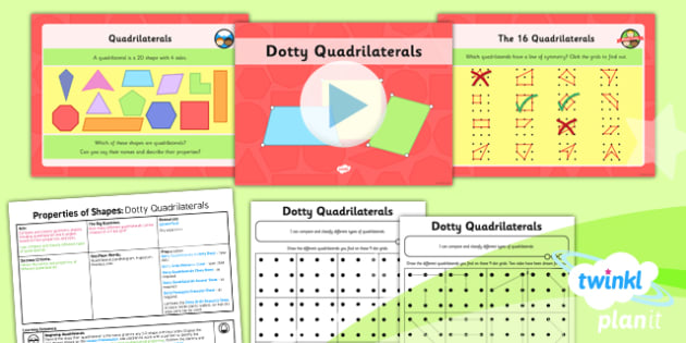 PlanIt Y4 Properties of Shapes SolveIt Lesson Pack - PlanIt, Properties of Shapes