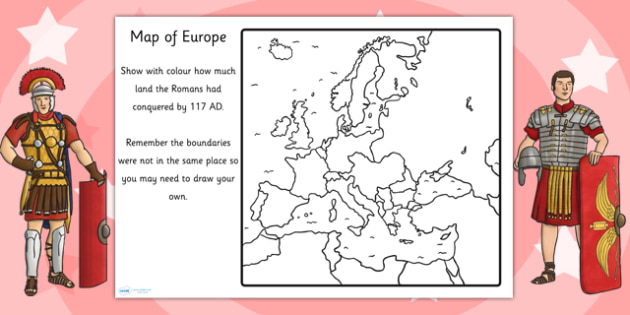 Spread of the Roman Empire Map Worksheet - romans, roman empire