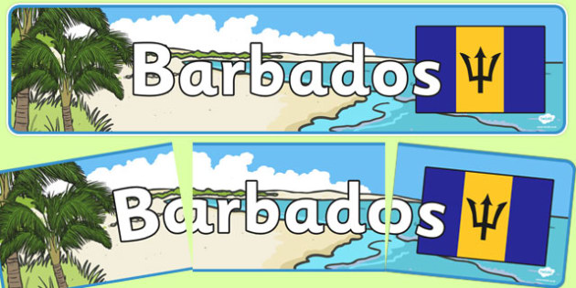Barbados Display Banner - Barbados, Olympics, Olympic Games, sports, Olympic, London, 2012, display, banner, sign, poster, activity, Olympic torch, flag, countries, medal, Olympic Rings, mascots, flame, compete, events, tennis, athlete, swimming
