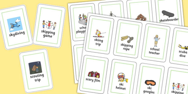 Three Syllable SC/SK Playing Cards - three syllable, sc/sk, playing, cards