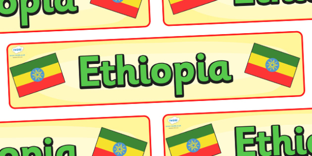 Ethiopia Display Banner - Ethiopia, Olympics, Olympic Games, sports, Olympic, London, 2012, display, banner, sign, poster, activity, Olympic torch, flag, countries, medal, Olympic Rings, mascots, flame, compete, events, tennis, athlete, swimming
