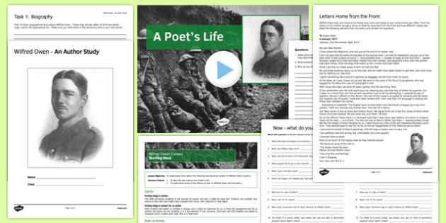 Wilfred Owen Context Pack - wilfred owen, context, pack, ks3, poet, poem, war