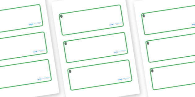 Opal Themed Editable Drawer-Peg-Name Labels (Blank) - Themed Classroom Label Templates, Resource Labels, Name Labels, Editable Labels, Drawer Labels, Coat Peg Labels, Peg Label, KS1 Labels, Foundation Labels, Foundation Stage Labels, Teaching Labels