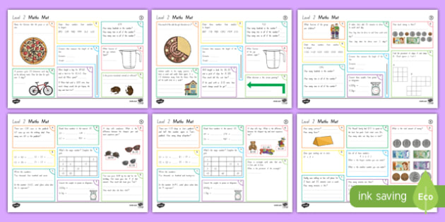 New Zealand Level 2 Maths Activity Mats