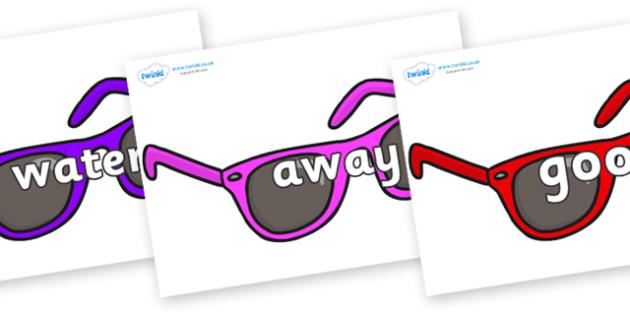 Next 200 Common Words on Sunglasses - Next 200 Common Words on  - DfES Letters and Sounds, Letters and Sounds, Letters and sounds words, Common words, 200 common words
