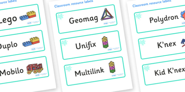 Turquoise Themed Editable Construction Area Resource Labels - Themed Construction resource labels, Label template, Resource Label, Name Labels, Editable Labels, Drawer Labels, KS1 Labels, Foundation Labels, Foundation Stage Labels