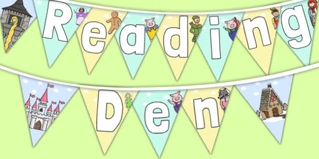 Reading Den Display Bunting - reading den, display bunting, display, bunting
