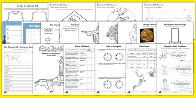 Top 10 End of Term Rio Olympics Activity Pack