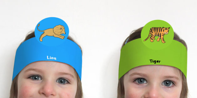 Jungle Animal Themed Role Play Headbands - roleplay, props