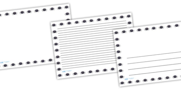 Spider Full Page Borders (Landscape) - page borders, spider page borders, spider borders for page, minibeast page borders, landscape, A4, border for page