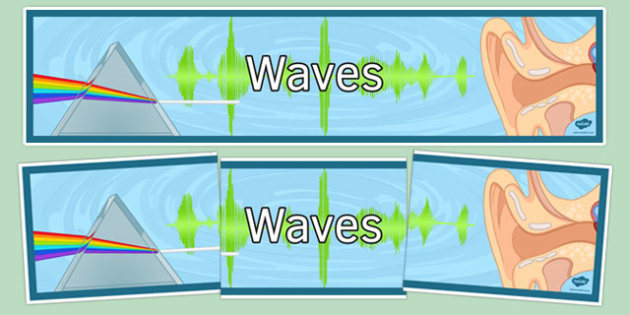 Waves Display Banner - waves, display banner, display, banner, science
