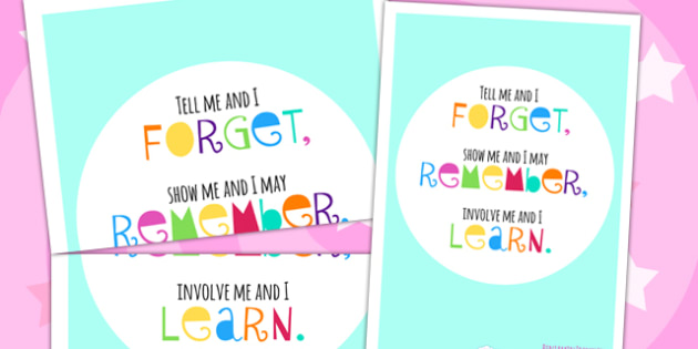 Tell Me And I Forget Motivational Poster - motivation, posters