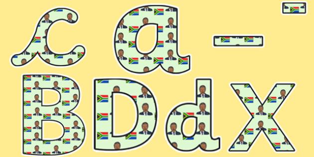 Nelson Mandela Themed Display Lettering - nelson mandela, display lettering, themed lettering, classroom lettering, lettering, a4  lettering, display