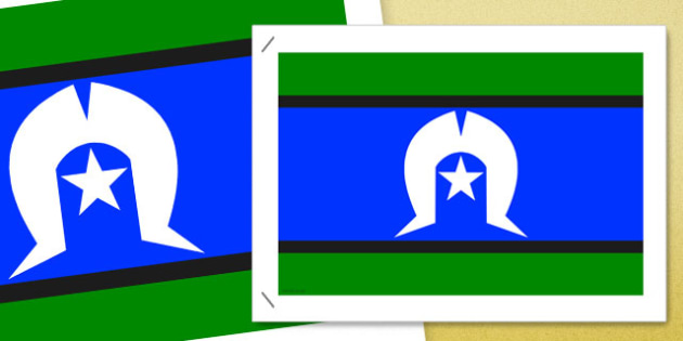 Flags of Australia Torres Strait Islander Flag poster - australian, geography, areas, different, display, colourful, classroom, visual aid, early years, ks1, key stage 1, ks2, key stage 2, regions, country, nation, people