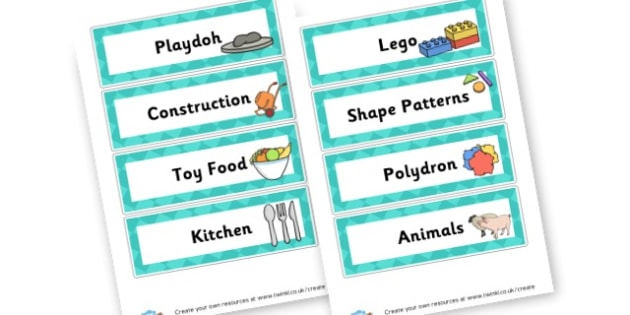 choosing boxes - display lettering - Toys Classroom Signs and Labels Primary Resources -  Primary Reso
