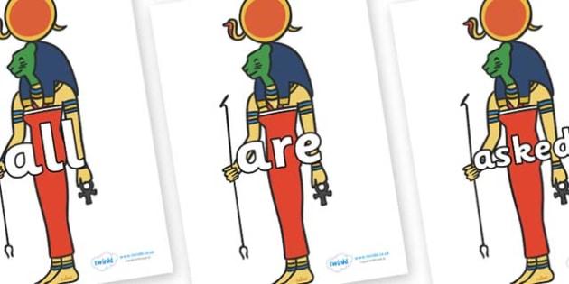 Tricky Words on Egyptian God - Tricky words, DfES Letters and Sounds, Letters and sounds, display, words