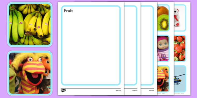 Photo Fruit Toys and Transport Sorting Activity - photo, fruit, toys, transport, sorting, activity
