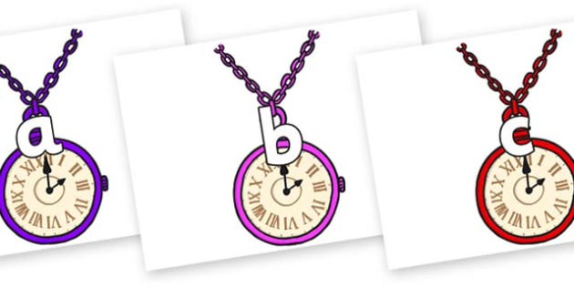 Phase 2 Phonemes on Pocket Watches - Phonemes, phoneme, Phase 2, Phase two, Foundation, Literacy, Letters and Sounds, DfES, display