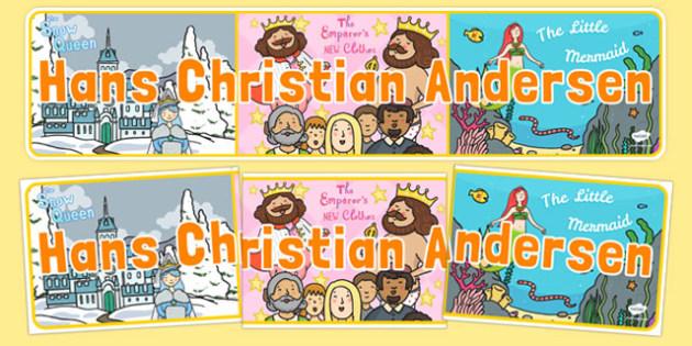 Hans Christian Andersen Display Banner - hans christian andersen, display banner, display, banner, author, famous