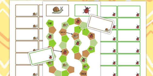 Minibeast Editable Board Game - minibeasts, board game, games