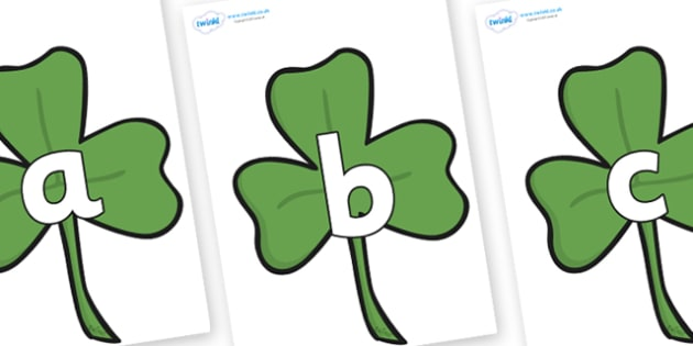 Phoneme Set on Clovers - Phoneme set, phonemes, phoneme, Letters and Sounds, DfES, display, Phase 1, Phase 2, Phase 3, Phase 5, Foundation, Literacy