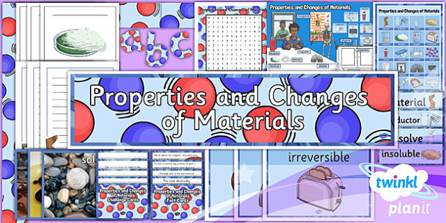 PlanIt Science Year 5 Properties And Changes Of Materials Unit Additional Resources - science, year 5, materials, topic, planning, resources, unit, opaque, transparent, hard, soft, rough, smooth, dissolving, solids, liquids, gases