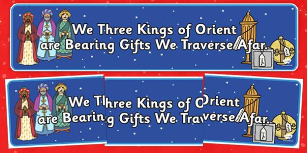 We Three Kings of Orient Display Banner - we three kings of orient, display banner, display, banner