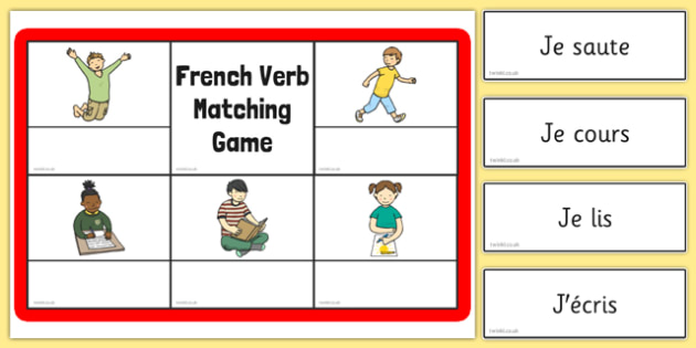 French Verb Matching Game - CfE, Modern Languages, French, Verbs, Games