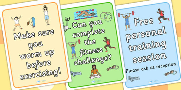 Gym Role Play Posters - roleplay, props, sport, pe, display