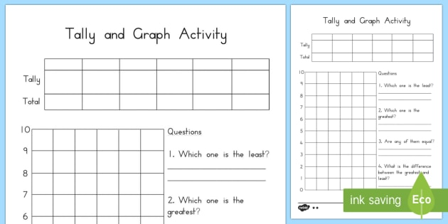 Tally and Graph Worksheet Template - australia, tally, graph